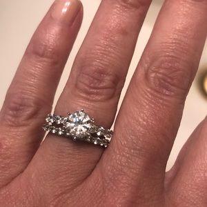 Stunning Diamonique Two Ring Set
